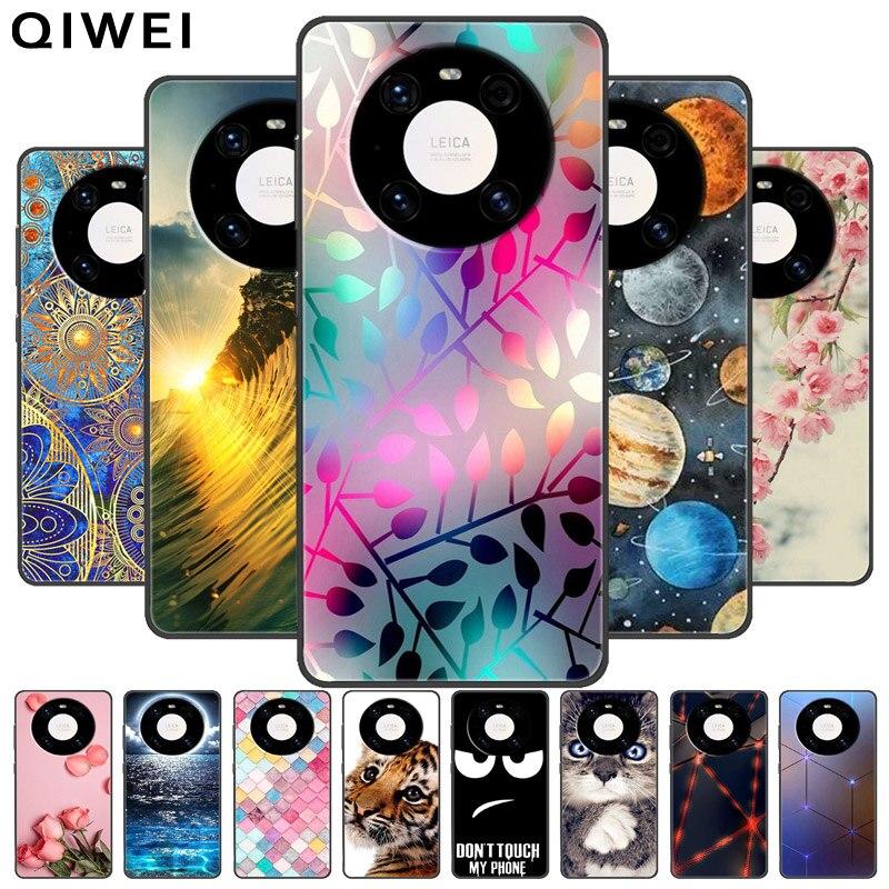 Для Huawei Mate 40 Чехол черный бампер окрашенный Мягкий силиконовый чехол для Huawei Mate 40 Pro Plus + чехлы для телефонов Fundas Mate40 5G