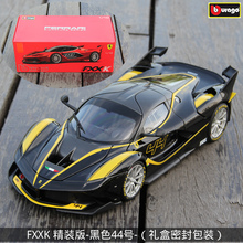 Bburago 1:18 Ferrari FXXK Black 44 car alloy car model simulation car decoration collection gift toy Die casting model boy toy new subaru legacy 1 18 original high quality alloy car model japan sports car collection gift boy toy hot sale