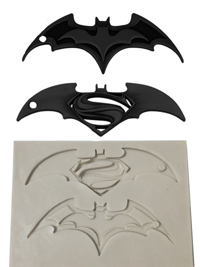 Luyou 1pc Superman & Batman cake silicone mold fondant lace mold Birthday cake decorating tools chocolate gumpaste mold FM1901 image