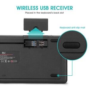 Image 2 - Rii K18 Plus Drahtlose Multimedia Englisch Russisch Spanisch Hebräisch Tastatur 3 LED Farbe Hintergrundbeleuchtung mit Multi Touch für TV Box,PC