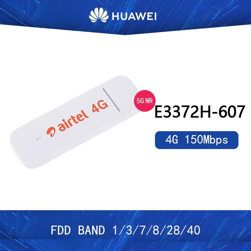 Unlocked 150Mbps LTE USB Dongle Huawei E3372 LTE 4G USB Modem With External Antenna Port E3372h-607