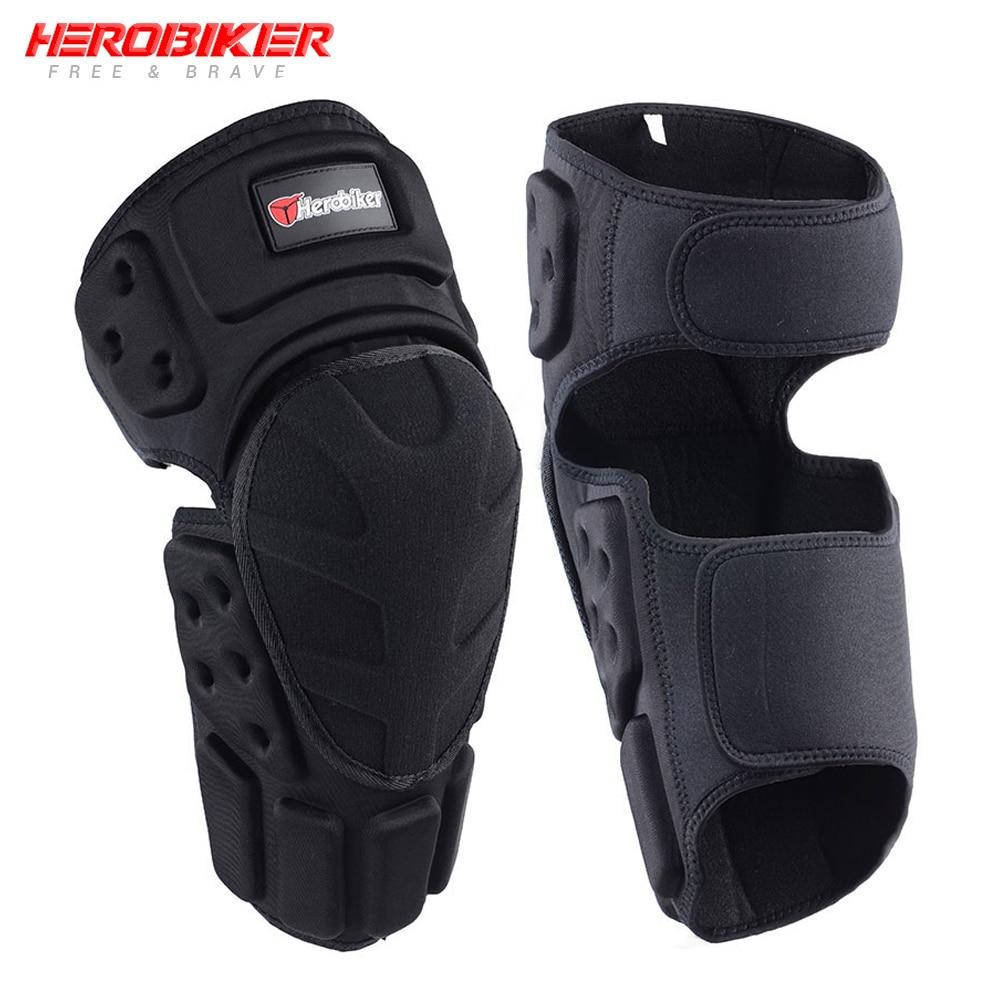 HEROBIKER мотоциклетные Наколенники Защита колен для мотокросса защита мото коленей защитный Шестерни мотоцикл Ridng черные сапоги-ботфорты
