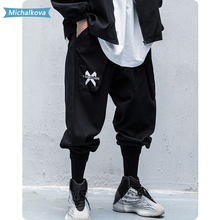 Men's clothing Multi Pockets Letter Cargo Pants Harajuku Hip
