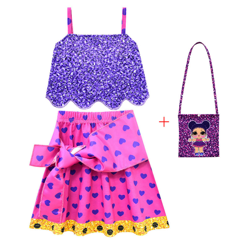 Movie Princess Lol Costume For Kids Moana Princess Dress Cosplay Costume Children Halloween Costume For Girls Vaiana Party Dress