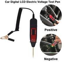 Herramienta de diagnóstico de circuito de coche Universal, probador de pantalla Digital de mantenimiento automotriz, bolígrafo con luz LED, herramienta de prueba