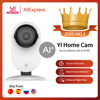 YI Home 1080p Camera 2.4G Wifi Indoor ip Camera AI Human detection Night vision Activity alerts Cameras for home/Cats/pets/Cloud