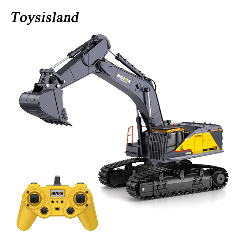 HUINA 1592  RC Excavator 2.4Ghz Remote Control Toy  Metal Bucket Construction Vehicles Truck