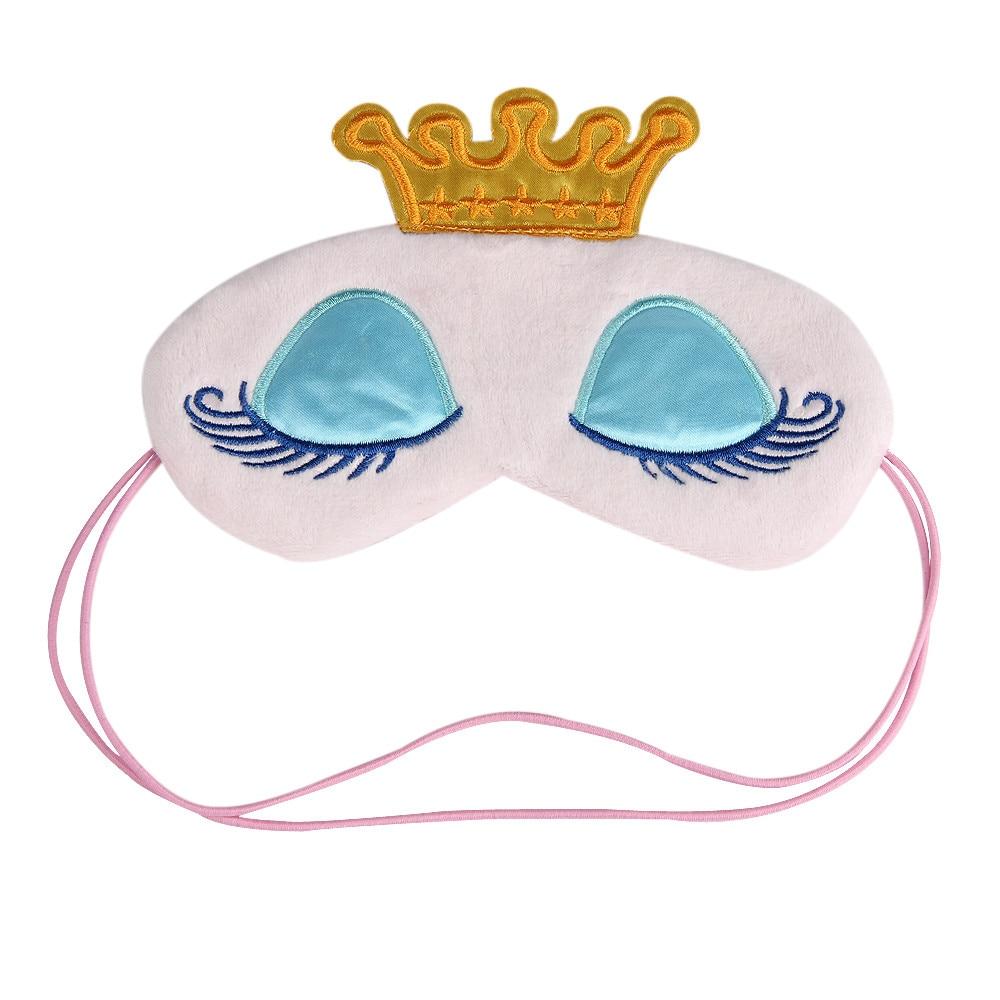 Cartoon Printing Halloween Mask Long Eyelashes Big Eyes Cute Eyes Cover Crown Style Travel Sleeping Blindfold Shade Eye Mask