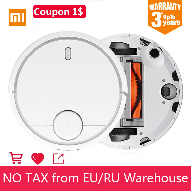 EU Stock Xiaomi Mi Robot Vacuum Cleaner For Home LDS Automatic Sweeping Dust Cleaner Smart planned