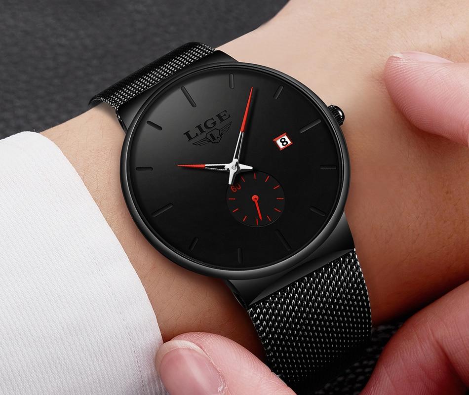 H4f184b3244e747f8b1298f1e9576d88ab New LIGE Mens Watches Casual Fashion Gift Men Watch Business Waterproof Quartz Watch Full Steel Clock Relogio Masculino+Box