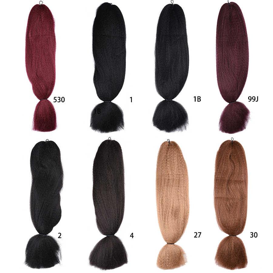 XCCOCO, 1 paquete de 48 pulgadas, mechones de cabello de Color puro, tamaño gigante trenzado sintético, extensiones de pelo de Kanekalon, Crochet, Rubio, Marrón falso