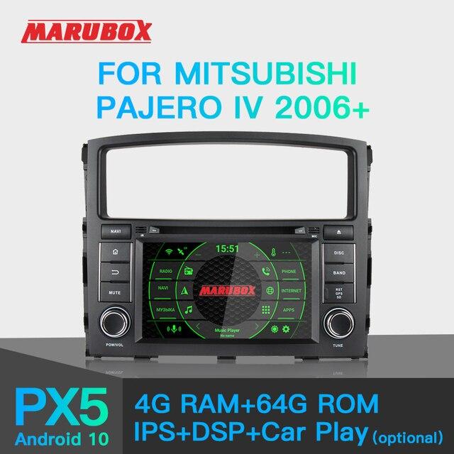 "Marubox KD7054 רכב נגן DVD עבור מיצובישי פאג רו IV 2006 +, 7 ""מסך IPS עם DSP, GPS ניווט, Bluetooth, Wifi, אנדרואיד 10"