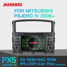 """Marubox KD7054 samochodowy odtwarzacz DVD dla Mitsubishi Pajero IV 2006 +, 7 """"ekran IPS z DSP, nawigacja GPS, Bluetooth, wi fi, z systemem Android 10"""