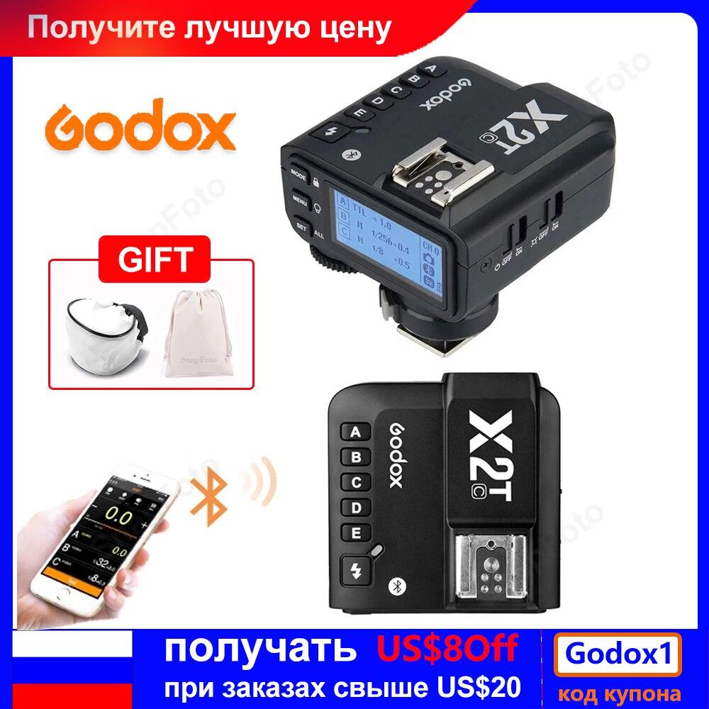 Godox X2T X2T-C X2T-N X2T-S X2T-F X2T-O X2T-P TTL 1/8000s HSS Беспроводной триггер для вспышки для цифровой зеркальной камеры Canon Nikon Sony Fuji Olympus Pentax