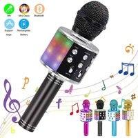 Micrófono inalámbrico con Bluetooth para Karaoke, altavoz profesional, portátil, grabador para cantar
