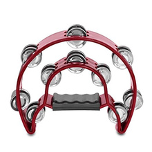 1pc Double Row Tambourine Portable Convenient Jingle Tambourine for Men Adults