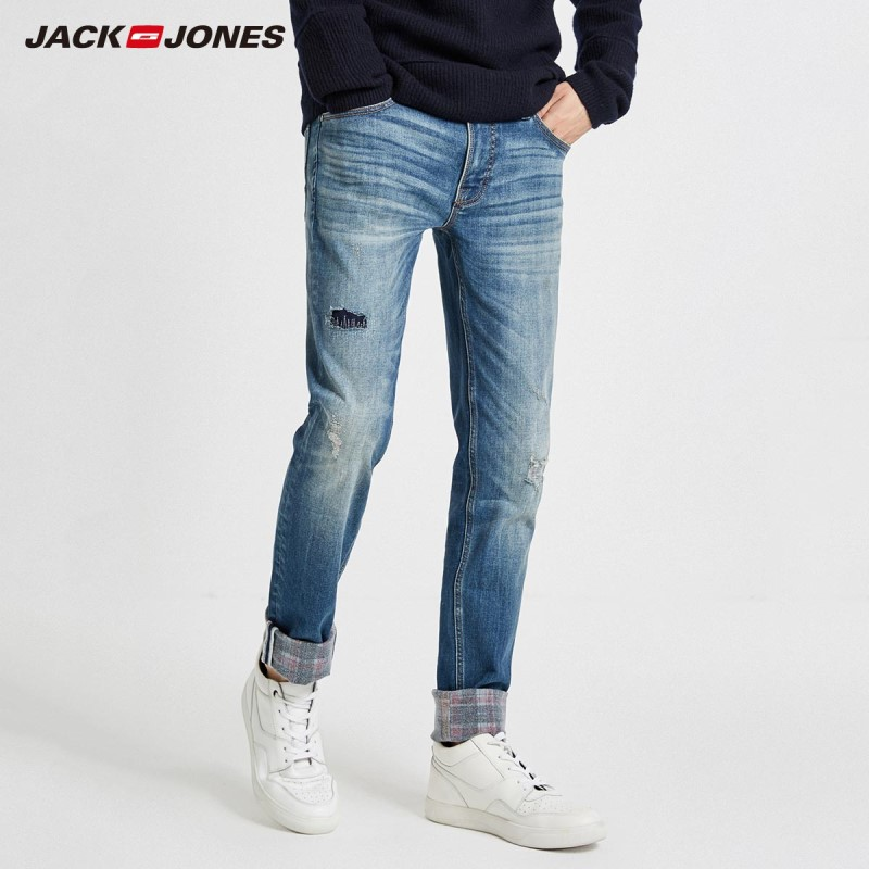 JackJones Winter Men's Cool Fashion Ripped Jeans 218432503