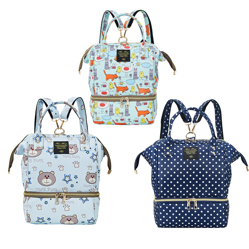 Diaper Bag Mummy Maternity Bag Small Waterproof Stroller Organizer Bag Diaper Nappy Changing Backpack For Moms Mommy Baby Bag