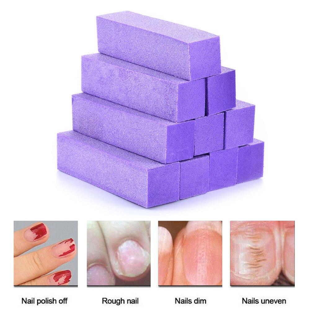 10Pcs Buffing Nail Sponge Sanding Block Nail Polish Durable Undamaged Nails Unisex Nail File Pedicure Manicure Nail Art Tools