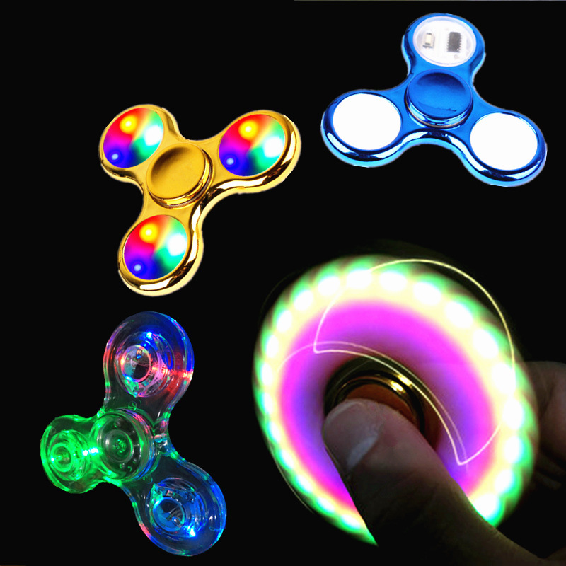 Colourful Glow in the dark Figet Spinners.