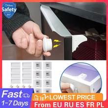 Fechadura magnética do armário de segurança do bebê crianças proteção crianças gaveta armário de segurança do bebê fechaduras para crianças