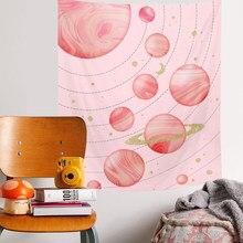 Tapiz estético de playa INS, Alfombra de Picnic, decoración del hogar, Sistema Solar colgante de pared, decoración de pared, paño colgante
