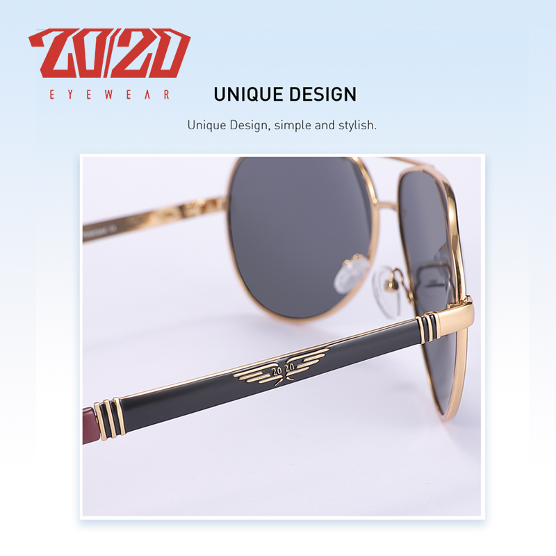 20/20 New Vintage Metal Polarized Sunglasses Classic Brand Sun glasses Coating Lens Driving Fishing Outdoor Shades oculo AK17131 3