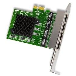 רשת כרטיס 4 יציאת Gigabit Ethernet 10/100/1000M PCI-E PCI Express כדי 4X Gigabit Ethernet רשת כרטיס LAN מתאם עבור מחשבים שולחניים