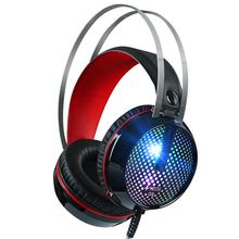 G6 Verdrahtete LED Licht Stereo Gaming Headset Surround Sound Bass Kopfhörer mit Noise Cancelling Mic für PC Laptop(China)