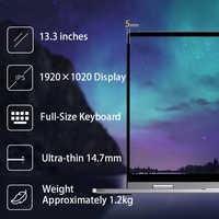 BMAX-portátil Y13 de 360 °, 13,3 pulgadas, Windows 10, 8GB, LPDDR4, 256GB, SSD, 1920x1080, IPS, Intel N4100, pantalla táctil