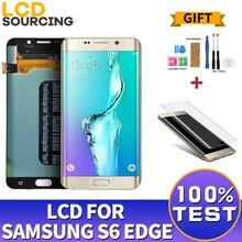 5.1 amoled dla Samsung Galaxy S6 krawędzi G925 G925F G925A wyświetlacz LCD ekran dotykowy Digitizer montaż monitora dla S6 krawędzi wymienić