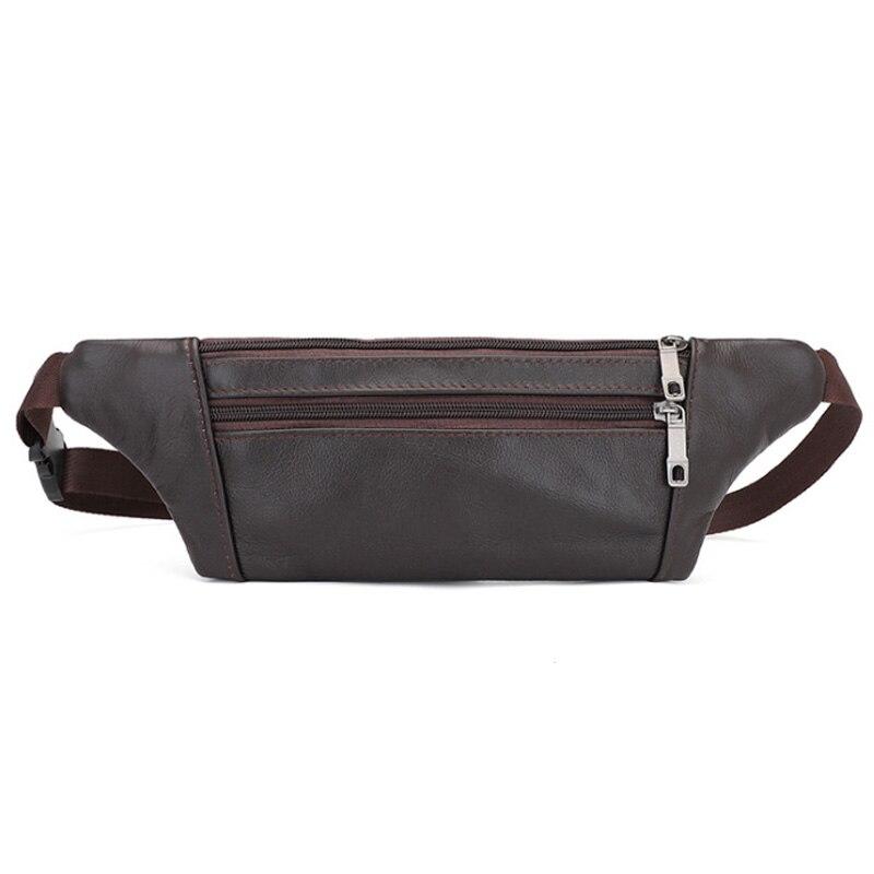 New Waist Bag Men Genuine Leather Belt Bag For Men Waist Bag High Quality Sports Fashion Pocket