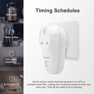 Image 4 - Itead Sonoff S26 Smart Wifi Socket Cn Au Uk Us Eu Br Het Draadloze Afstandsbediening Schakelaar Via Ewelink Werkt met Alexa Google Thuis