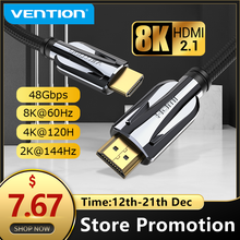 Vention HDMI 2.1 Cable 8k 60Hz 4K 120Hz 3D High Speed 48Gbps HDMI Cable for PS4 Splitter Switch Box Extender Video 8K HDMI Cable
