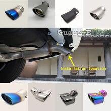 Para chrysler grand voager 2011-2019 corpo do carro varas silenciador exterior extremidade traseira tubo dedicar ponta de escape cauda saída ornamento