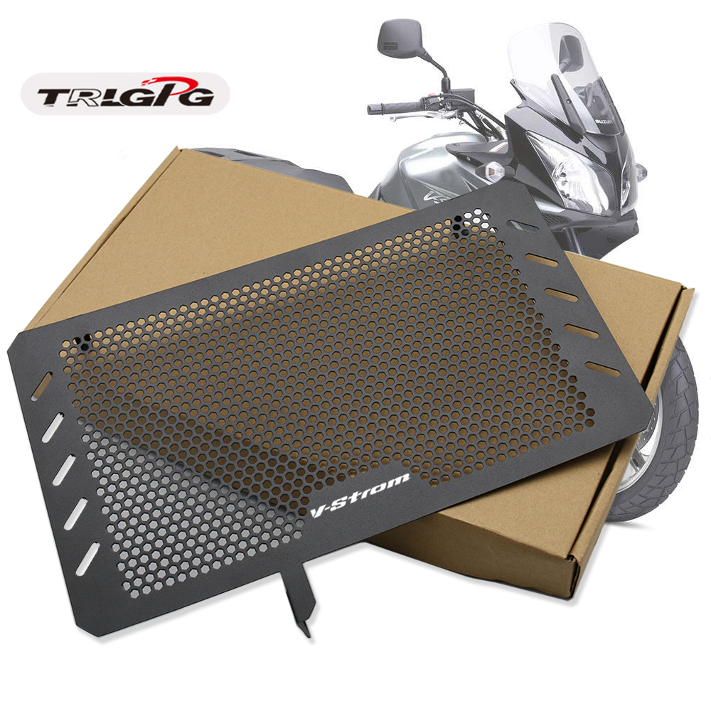 For Suzuki DL650 V-STROM 650 VSTROM DR650S 2013-2019 Radiator Grille Guard Stainless Steel Protector Cover Motor bike