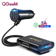 QGEEM 4 USB QC 3.0 Car Charger Quick Charge 3.0 Phone Car Fa