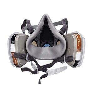 Image 3 - Demi visage respirateur masque à gaz charbon actif masque Anti poussière 6200 peinture pulvérisation soudage Anti Pollution sécurité travail Virus masque