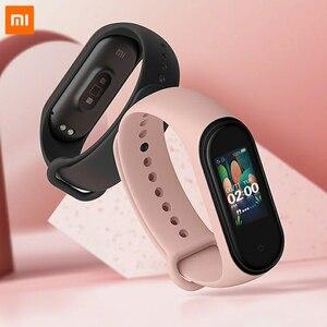 Image 3 - 85% 새로운 Xiaomi Mi Band 4 스마트 팔찌 3 색 AMOLED 스크린 심박수 피트니스 블루투스 5.0 스포츠 50ATM 방수 SmartBand