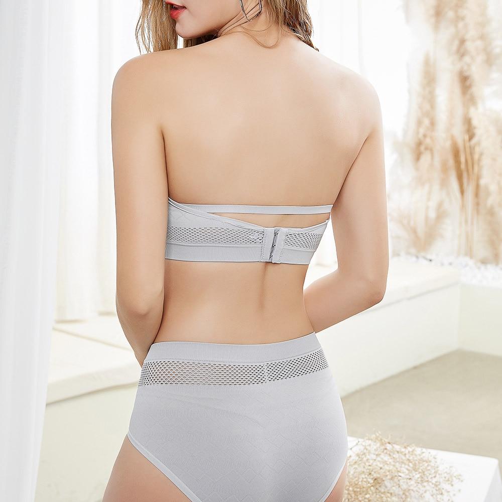 Womens Push Up Bras Strapless Brassiere Wireless Sexy Bralette Bandage Lingerie Female Underwear Tops  A B C Cup 2