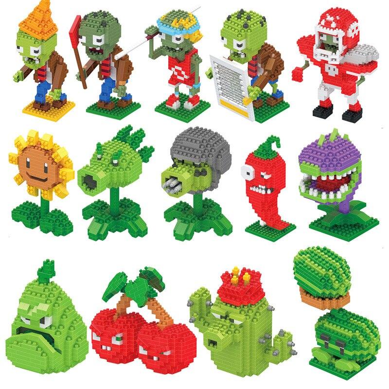 New  Blocks Toy Plants Vs. Zombies 14 Designs Diamond Block >14 Age Years Old Player Style Mini Block