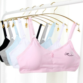 Teen Girls Underwear Soft Padded Cotton Bra Young Girls For Yoga Sports Running Breathable Bra 8-18Y Training Bras цена 2017
