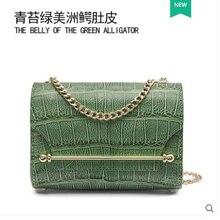 gete new crocodile cross-body bag stylish pillow lady England Boston leather women handbag