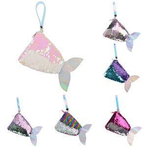 Women Mermaid Tail Sequins Coin Purse Girls Purse Bag Reversible Sequin Coin Bag Change Purse for Kids Children Gift Bag