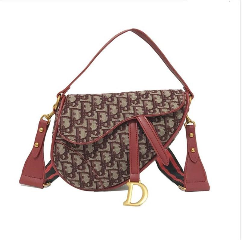 2018 New Arrival Saddle Bag Letter Colorful Ribbons Design Women Shoulder Bags Gun Bags Women Crossbody Bags Handbag