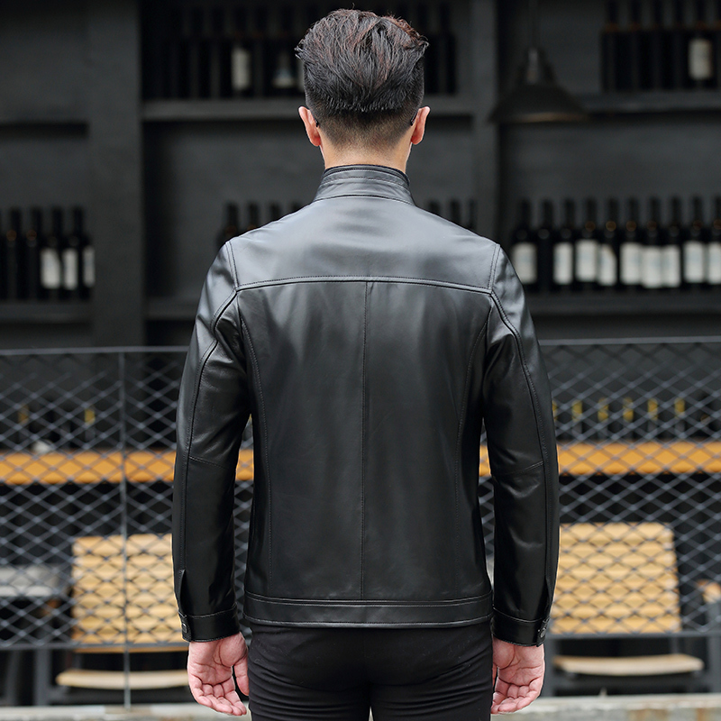 Short Genuine Leather Jacket Men Spring Autumn Coat Man Mens Sheepskin Coat Real Leather Jackets And Coat 18017 KJ1080