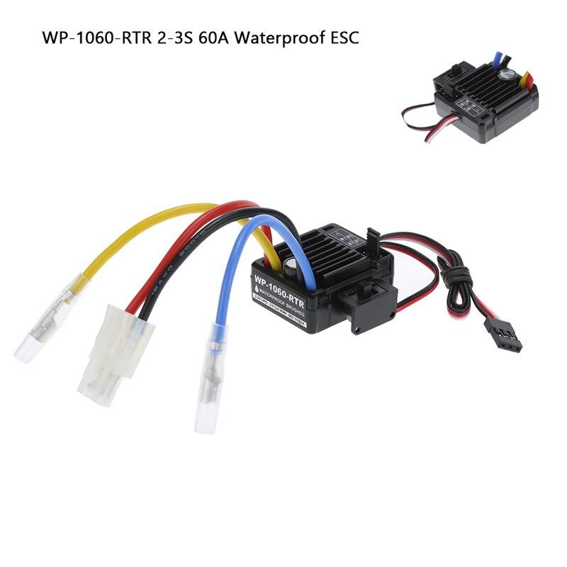 WP-1060-RTR 2-3S 60A водонепроницаемый матовый ESC w/BEC 5V/2A для 1/10 RC Tamiya Traxxas Redcat HPI радиоуправляемые автомобильные запчасти