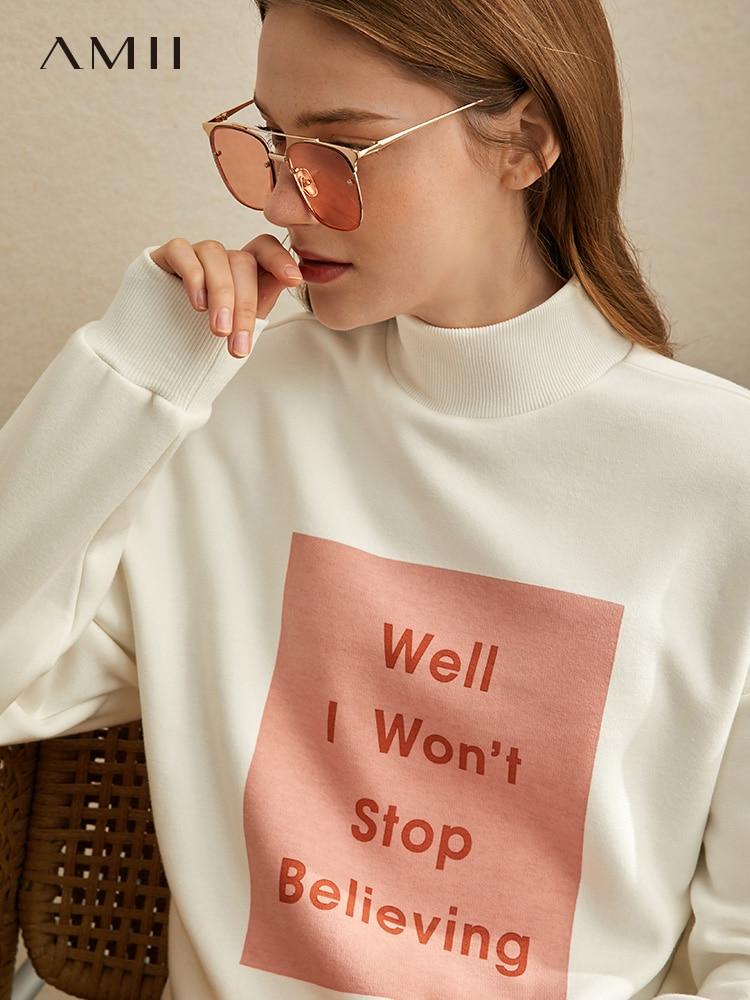 Amihan Edition Ins High Collar Plus Thick Velvet Dress Women's Autumn/winter  New Loose-print Long-sleeved Top 11930473