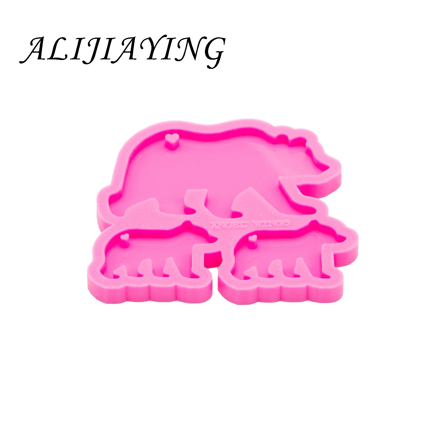 Shiny Bow Silicone Mold Making DIY Keychain Pendant Epoxy Resin Crafting Moulds