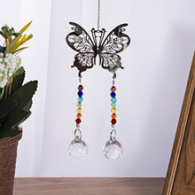 Hanging-Ornament Rainbow-Maker Crystal-Ball Chakra Butterfly Suncatcher Home-Decor Photography-Props